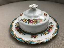 Gorgeous Royal Albert Chelsea Bird Round Covered Butter Dish Bone China England