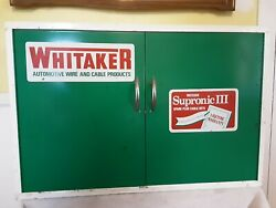 Rare Antique Whitaker Automotive Dealer Store Display Wall Cabinet/sign.