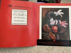 Signed Dancing In The Rain Mickey Lithograph By Eric Robison100 Mickeys Exhibit