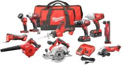 Milwaukee Drill Driver Blower Saw Batteries Cordless Kit Everything