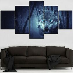 5p Wolf Paintings Modular Home Decorative Canvas Hd Printed Wall Art