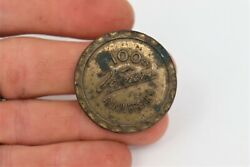 Vintage 100th Vernors Anniversary Bottle Cap Coin Brass Authentic Collectible