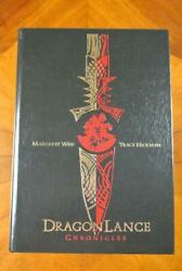 Dragonlance Chronicles Hardcover Tracy Hickman And Margaret Weis Signed