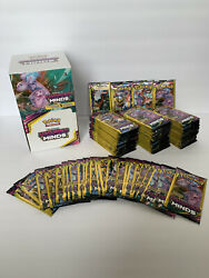 Pokemon Unified Minds Booster Pack Lot 100 3 Cards Each - Unopened Unweighed