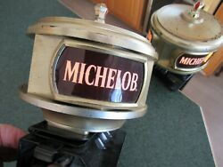 Two Original Vintage Michelob Beer Lighted Bar Display Signs - Great Working Con