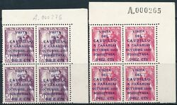 Spain - Mailing Year 1951 - Number 01088/89 - Canarias Block Of 4 / De Luxe