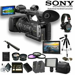 Sony Hxr-nx3/1 Nxcam Professional Camcorder + Sony Headphones Combo