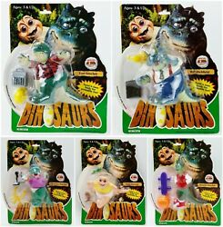 Disney Dinosaurs Tv Show Lot Of 5 Action Figures Sinclair Family 1991 Hasbro New