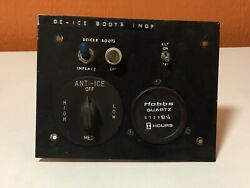 Bf-goodrich Deice Rheostat And Instrument Panel Piece W/ Switches And Lights