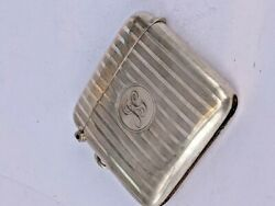 1921 Art Deco Case Solid Silver Large Vesta Match Case By William Neale