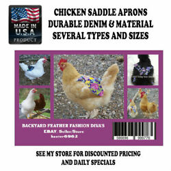 4 Chicken Saddle Apron Hen Jacket Backyard Poultry Hen Feather Protection POULTR