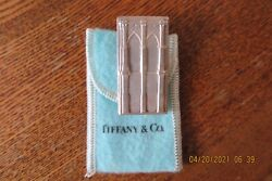And Co Silver Brooklyn Bridge Money Clip Packaging Box Pouch Pristine.