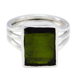 Tourmaline Sterling Silver Ring Manmade Jewelry For Childrenand039s Day Gift Us