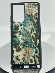 Cow Hide Turquoise Print Cell Phone Case Cover Fits Note 20 Ultra Custom Made