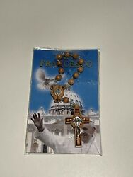 Rosary Wooden Crucifix Savelli Roma Vatican Made In Italy Brand New In Box