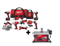 Milwaukee Tool Kit M18 Cordless Combo 8-tool W/ Fuel 8-1/4 In.+table Saw