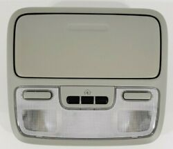04 - 08 Honda Pilot Overhead Console With Map Lights And Homelink - Light Gray