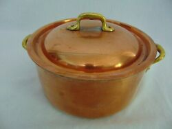 Copper Cookware Made In France Vintage 8 Stock Pot And Lid Tin Lining Rivets