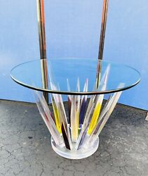 Fantastic Lucite Crystal Dining/ Center Table By Shahrooz
