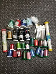 Large Lot Of Sewing Embroidery Thread Yli Floriani Coats And Clark Woolly Maxilock