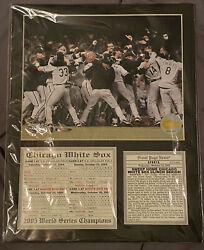 Chicago White Sox 2005 World Series Champions Picture And Each Game Box Scores