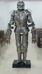 Gothic German Suit Of Armor Medieval Full Body Armour - Halloween Handmade