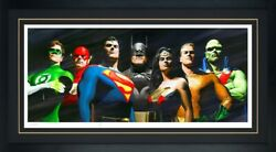 Sdcc Exclusive Alex Ross Original Seven Framed Lithograph Signed Sideshow New