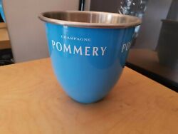 Rare French Pommery Light Blue Champagne Cooler Wine Ice Bucket