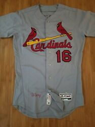 St Louis Cardinals Mlb Majestic Authentic Wong 16 Jersey Size 42