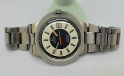 Used Vintage Omega Geneve Dynamic Twotone Creamandblack Dial Date Auto Manand039s Watch