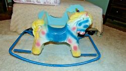 Vintage Rocking Horse Wonder Horse Bouncing Toddler Shoo-fly Deluxe Pony Ride-on