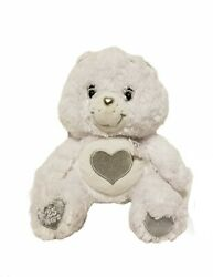 Care Bears White Teddy 25th Anniversary Special Edition Silver