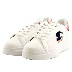 Shoes Sneakers Casual Starter Black Label Leather Men White Rubber White Upturn
