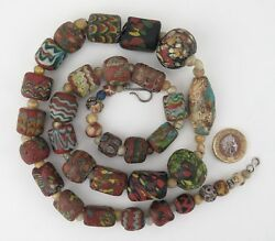 Islamic Glass Trade Beads 28 Large 6 Small Plus Spacers. Provenance