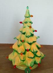 """Union Products Christmas Tree Table Top Blow Mold Light Up Vintage 12"""" Works"""