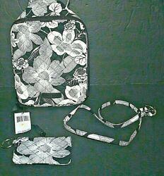 Vera Bradley Zip Id Case And Wide Lanyard And Lunch Bunch Bedford Blooms Nwt Exact
