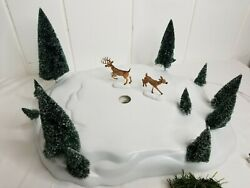 Department 56 Snow Village Through The Woods Animated Mountain Trail 56.52791