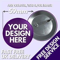 59mm Custom Badges • Personalised Printed Badge • Hen Stag Promotional Button