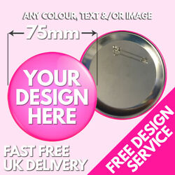 75mm Custom Badges Andbull Personalised Printed Badge Andbull Hen Stag Promotional Button