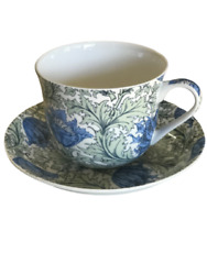 Breakfast Cup And Saucer Set Fine China New Gift Boxed Anemone 500ml 17.5oz