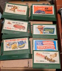 Vintage Lionel Trains O/o-27 Scale Billboard Set Of 4 Holders , And 7 Signs