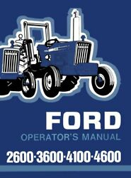 Ford 2600 3600 4100 4600 Tractor Operators Owners Manual Maintenance 1975 - 1981