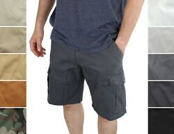 Wrangler Authentics Men#x27;s Outdoor Cargo Classic Relaxed Fit Shorts 6 Pockets