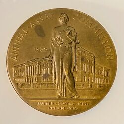 1938 United States Annual Assay Commission Mint Medal By John Sinnock Ngc Ms62