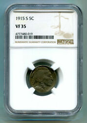 1915-s Buffalo Nickel Ngc Vf 35 Nice Original Coin From Bobs Coins Fast Shipment