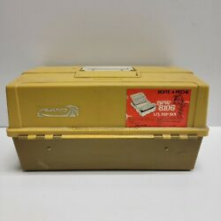 Plano Model 8106 Fishing Tackle Box W/6 Trays And 2 Side Latches