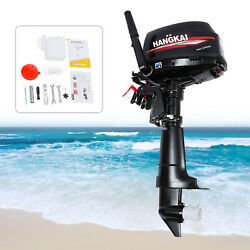 Hangkai 6 Hp 2 Stroke Outboard Motor Boat Marine Engine Water-cooled Cdi System