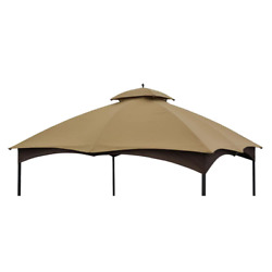 10 X 12 Ft. Outdoor Living Canopy Top Massillon Turnberry Gazebo Tan