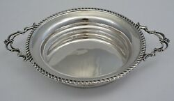 6 Andfrac12 English Victorian Solid Sterling Silver Two Handled Dish L.1898 169mm 104g