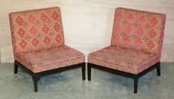 Pair Of Rrp Andpound7660 George Smith Norris Armchairs For Reupholstery Project X2